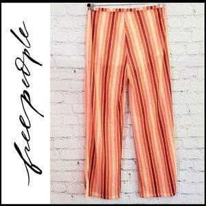 FREE PEOPLE Woven Palazzo Pants w/Under Shorts L